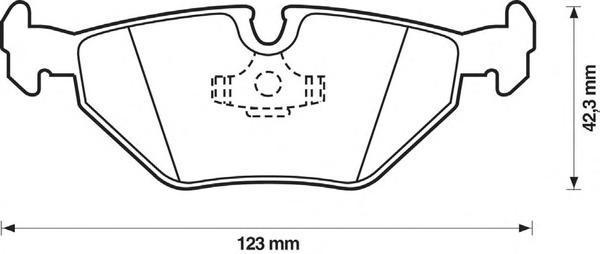 Колодки тормозные задние Jurid 571387J571387J