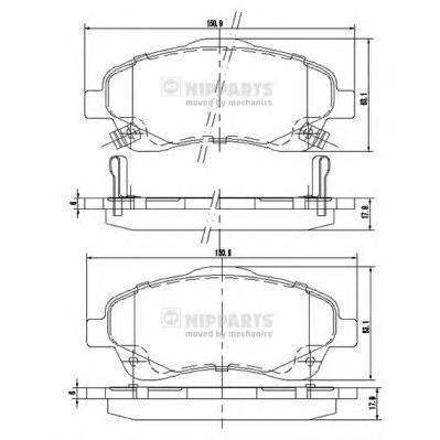 Колодки тормозные передние Nipparts J3602112J3602112