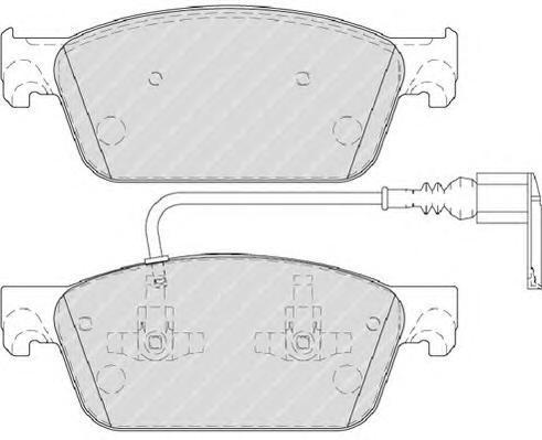 Колодки тормозные дисковые Premier Ferodo FVR4302FVR4302