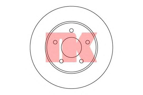 Диск тормозной NK 202257 комплект 2 шт202257