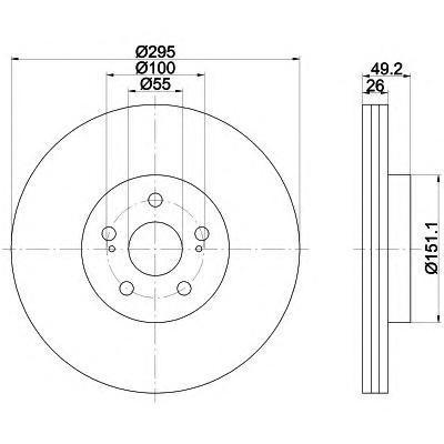 Диск тормозной Textar 92135603 комплект 2 шт92135603