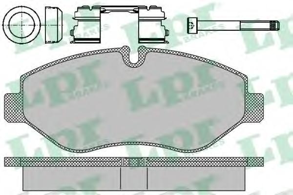 Колодки тормозные передние LPR / AP 05P129705P1297