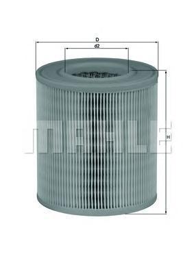 Фильтр воздушный Mahle/Knecht. LX1253LX1253