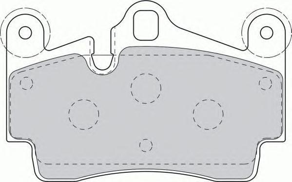 Колодки тормозные дисковые Premier Ferodo FDB1627FDB1627
