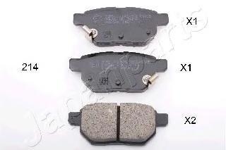Колодки тормозные дисковые Japanparts PP214AFPP214AF