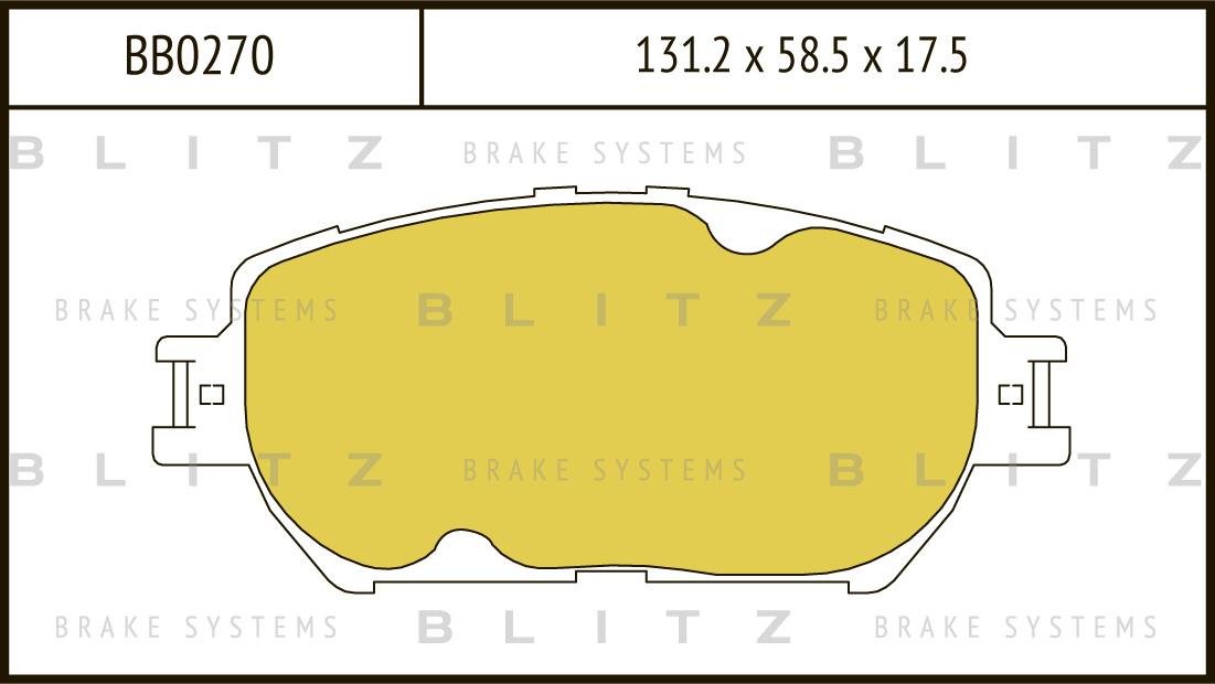 Колодки тормозные дисковые BLITZ автотовары BB0270BB0270