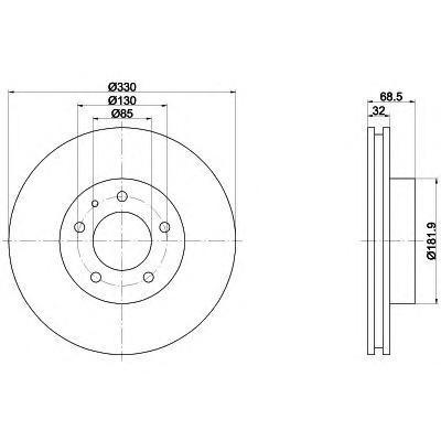 Диск тормозной Pro BEHR-HELLA 8DD3551097218DD355109721