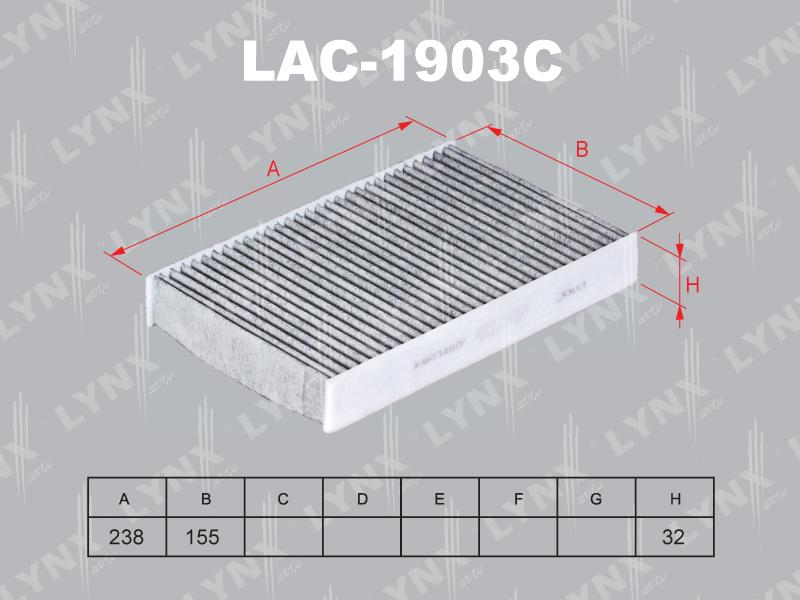 Фильтр салонный Lynx LAC1903CLAC1903C