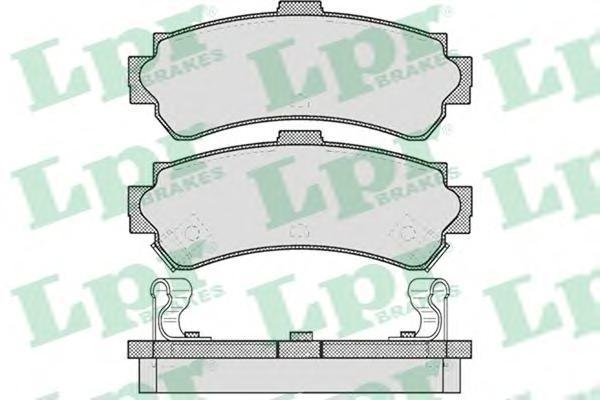 Колодки тормозные дисковые задние LPR / AP 05P62405P624