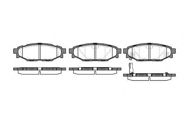 Колодки тормозные дисковые Remsa, комплект. 113601113601