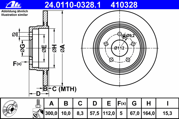 Диск тормозной Ate 24011003281 комплект 2 шт24011003281
