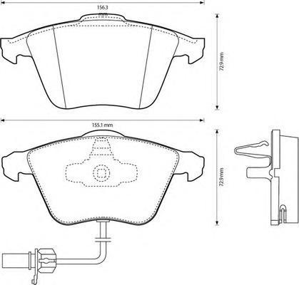 Колодки тормозные пер, с датчиком Jurid 573145J573145J