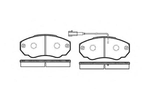 Колодки тормозные передние с датчиком Road House 296001296001