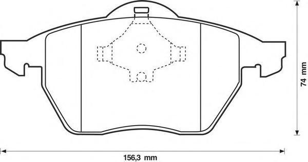 Колодки тормозные передние Jurid 571935J571935J