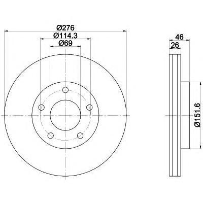 Диск тормозной передний вентилируемый Textar 92197403 комплект 2 шт92197403