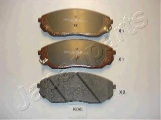 Колодки тормозные дисковые Japanparts PAK08AFPAK08AF
