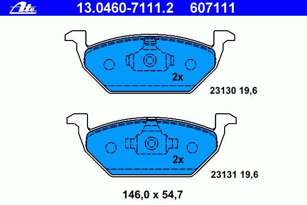 Колодки тормозные дисковые Ate 1304607111213046071112