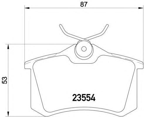 Колодки тормозные дисковые, комплект BEHR-HELLA 8DB3550177118DB355017711
