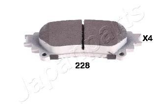 Колодки тормозные задние Japanparts PP228AFPP228AF