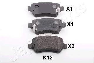 Колодки тормозные дисковые задние Japanparts PPK12AFPPK12AF