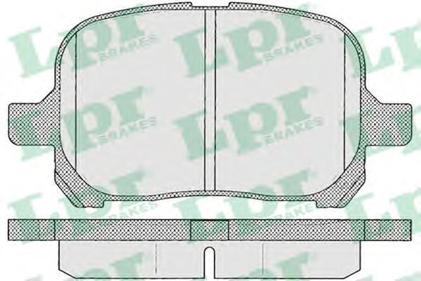 Колодки тормозные передние LPR / AP 05P95305P953