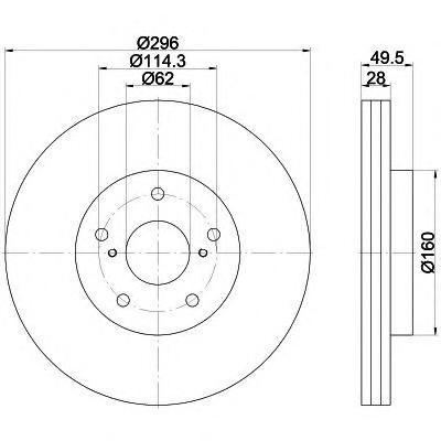 Диск тормозной Textar 92174303 комплект 2 шт92174303