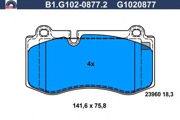 Колодки тормозные дисковые Galfer B1G10208772B1G10208772