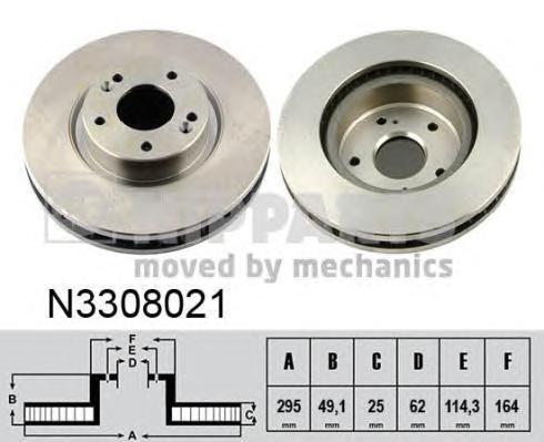 Диск тормозной Nipparts N3308021N3308021