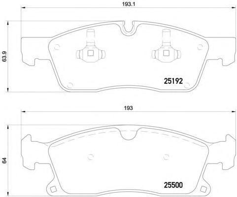 Колодки тормозные дисковые Brembo, передние. P50109P50109