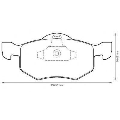 Колодки тормозные дисковые 4 шт, передние Jurid 572503J572503J
