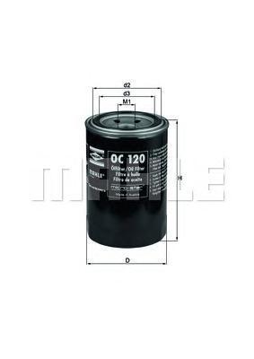 Фильтр масляный Mahle/Knecht. OC120OC120
