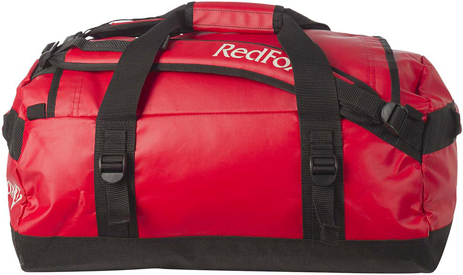 Баул Red Fox Expedition Duffel Bag, цвет: красный, 70 л1036578Duffel Bag 70 - надежный экспедиционный баул для транспортировки большого количества вещей во время экспедиций и путешествий.Особенности:-большой клапан на молнии для доступа в основное отделение,-внутренний карман на молнии для документов и мелочей,-четыре ручки,-отстегивающиеся лямки,-центральные ручки соединяются клапаном с застежкой велкро,-четыре боковых стяжки. Назначение: экспедиции.Материал: 1000D PVC coated Nylon.Объем: 70 л.