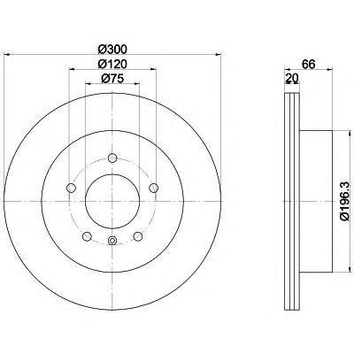 Диск тормозной Pro BEHR-HELLA 8DD355118271 комплект 2 шт8DD355118271
