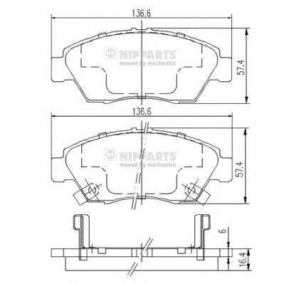 Колодки тормозные передние Nipparts J3604033J3604033