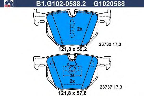 Колодки тормозные Galfer B1G10205882B1G10205882