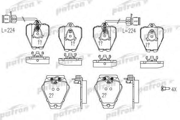Колодки тормозные дисковые передние Patron PBP985PBP985