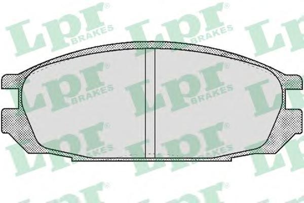 Колодки тормозные дисковые задние LPR / AP 05P37605P376