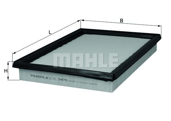 Фильтр воздушный Mahle/Knecht LX3475LX3475