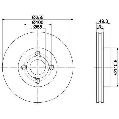 Диск тормозной вентилируемый Textar 92125903 комплект 2 шт92125903