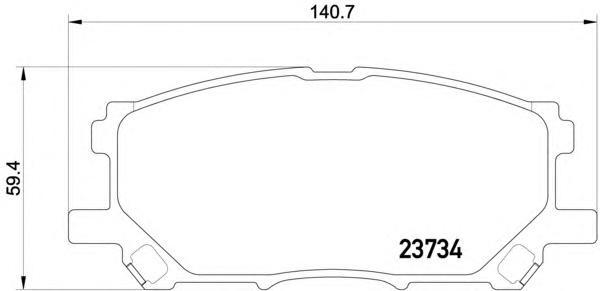 Колодки тормозные дисковые, 4 шт Textar 23734012373401