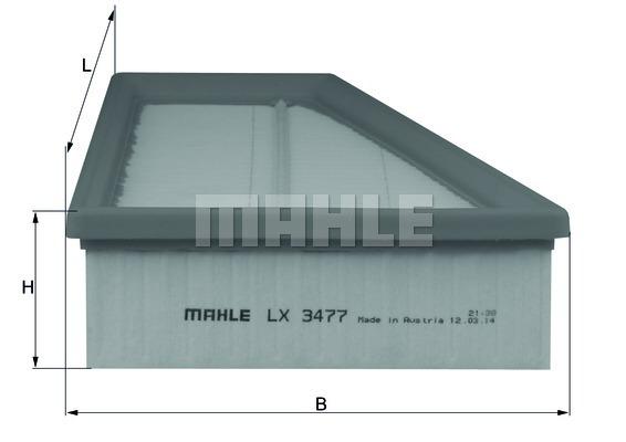 Фильтр воздушный Mahle/Knecht LX3477LX3477