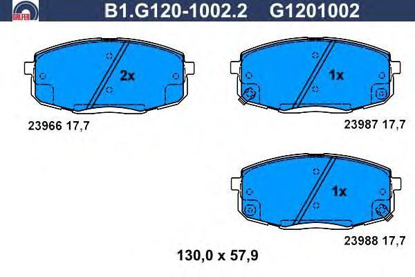 Колодки тормозные Galfer B1G12010022B1G12010022