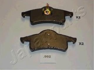 Колодки тормозные дисковые Japanparts PP992AFPP992AF