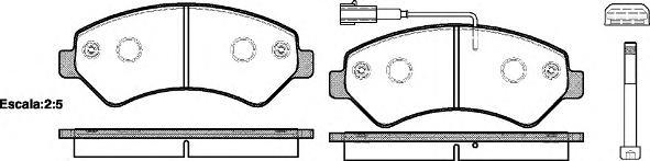 Колодки тормозные дисковые Remsa, комплект. 127501127501