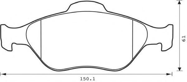 Колодки тормозные дисковые 4 шт, передние Jurid 573041J573041J