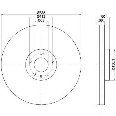 Диск тормозной передний вентилируемый Textar 9218420392184203