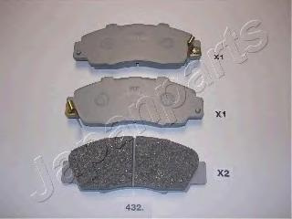 Колодки тормозные дисковые Japanparts PA432AFPA432AF