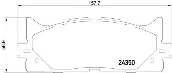 Колодки тормозные дисковые, комплект BEHR-HELLA 8DB3550124018DB355012401
