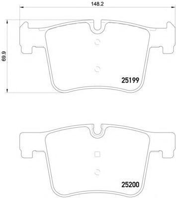 Колодки тормозные Brembo P06075P06075
