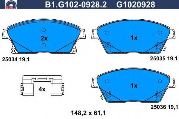 Колодки тормозные Galfer B1G10209282B1G10209282